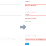Styling Contact Form 7 validation with CSS and border