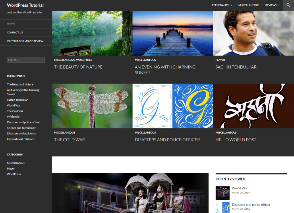 Set featured content to grid or slider in Twenty Fourteen theme