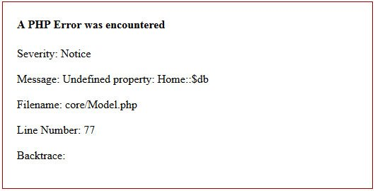 Undefined property $db in Codeigniter