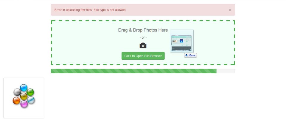 Drag n drop multiple AJAX images upload with progress bar
