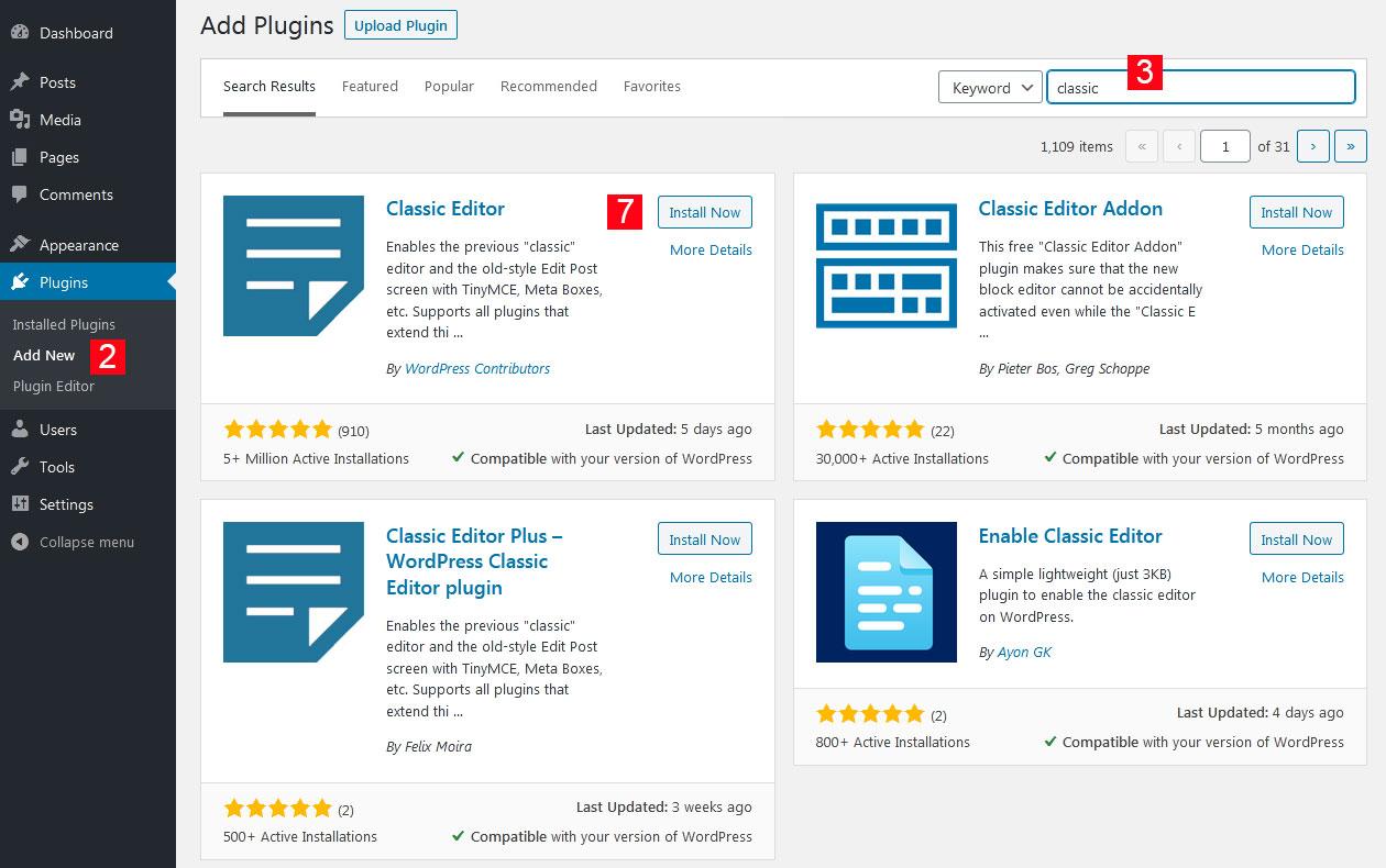Install a Free WordPress Plugin