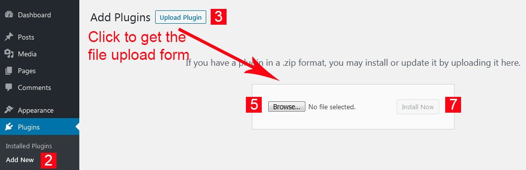 Install WP Plugin without FTP from Zip