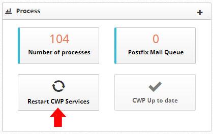 Restart CWP Services