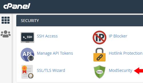 Mod Security cPanel
